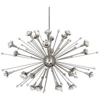 Robert Abbey S714 Jonathan Adler Sputnik 24 Light 48 inch Polished Nickel with Crystal Chandelier Ceiling Light