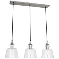 Albert 3 Light 9 inch Polished Nickel Pendant Ceiling Light