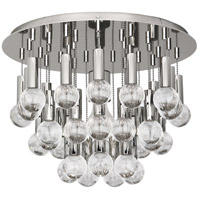 Robert Abbey S754 Jonathan Adler Milano 1 Light 15 inch Polished Nickel with Crystal Flush Mount Ceiling Light, Lucite Accents