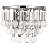 Robert Abbey S757 Jonathan Adler Milano 1 Light 14 inch Polished Nickel and Crystal Wall Sconce Wall Light