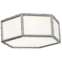 Robert Abbey S763 Jonathan Adler Meurice 3 Light 15 inch Polished Nickel Flush Mount Ceiling Light