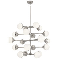 Robert Abbey S789 Jonathan Adler Rio 20 Light 40 inch Polished Nickel Chandelier Ceiling Light