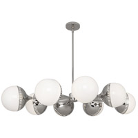 Robert Abbey S790 Jonathan Adler Rio 8 Light 50 inch Polished Nickel Chandelier Ceiling Light