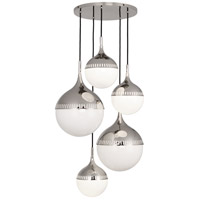 Robert Abbey S791 Jonathan Adler Rio 5 Light 27 inch Polished Nickel Chandelier Ceiling Light