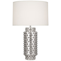 Robert Abbey S800 Dolly 28 inch 150 watt Nickel Metallic Glaze Table Lamp Portable Light in Fondine
