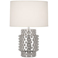 Robert Abbey S801 Dolly 21 inch 150 watt Nickel Metallic Glaze Accent Lamp Portable Light in Fondine
