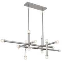 Robert Abbey S803 Jonathan Adler Milano 16 Light 28 inch Polished Nickel with Lucite Chandelier Ceiling Light