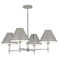 Robert Abbey S843 Jonathan Adler St. Germain 4 Light 33 inch Polished Nickel Chandelier Ceiling Light