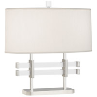 Robert Abbey S849 Plexus 18 inch 100 watt Polished Nickel with Lucite Table Lamp Portable Light
