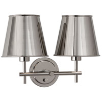 Robert Abbey S885 Aiden 2 Light 17 inch Polished Nickel Wall Sconce Wall Light