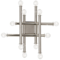Robert Abbey S901 Jonathan Adler Milano 12 Light 18 inch Polished Nickel Wall Sconce Wall Light
