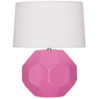 Robert Abbey SP01 Franklin 24 inch 150.00 watt Schiaparelli Pink Glazed Ceramic Table Lamp Portable Light