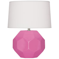 Robert Abbey SP02 Franklin 16 inch 60.00 watt Schiaparelli Pink Glazed Ceramic Accent Lamp Portable Light