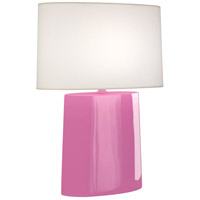 Robert Abbey SP03 Victor 26 inch 100.00 watt Schiaparelli Pink Glazed Ceramic Table Lamp Portable Light
