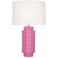 Robert Abbey SP800 Dolly 28 inch 150 watt Schiaparelli Pink Table Lamp Portable Light