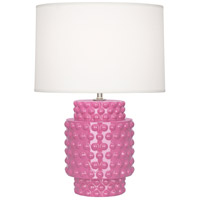 Robert Abbey SP801 Dolly 21 inch 150 watt Schiaparelli Pink Accent Lamp Portable Light