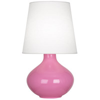 Robert Abbey SP993 June 31 inch 150 watt Schiaparelli Pink Table Lamp Portable Light in Oyster Linen