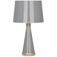Robert Abbey ST46 Pearl 20 inch 60 watt Smoky Taupe Lacquer with Modern Brass Accent Lamp Portable Light