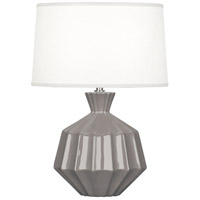 Robert Abbey ST989 Orion 18 inch 60 watt Smoky Taupe Accent Lamp Portable Light Polished Nickel Accents