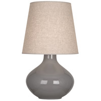 Robert Abbey ST991 June 31 inch 150 watt Smoky Taupe Table Lamp Portable Light in Buff Linen