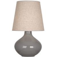 Robert Abbey ST991 June 31 inch 150 watt Smoky Taupe Table Lamp Portable Light in Buff Linen