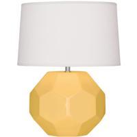 Robert Abbey SU01 Franklin 24 inch 150.00 watt Sunset Yellow Glazed Ceramic Table Lamp Portable Light