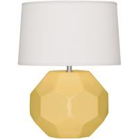Robert Abbey SU02 Franklin 16 inch 60.00 watt Sunset Yellow Glazed Ceramic Accent Lamp Portable Light