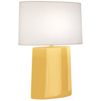 Robert Abbey SU03 Victor 26 inch 100.00 watt Sunset Yellow Glazed Ceramic Table Lamp Portable Light