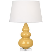 Robert Abbey SU33X Small Triple Gourd 24 inch 150 watt Sunset Yellow Accent Lamp Portable Light in Lucite