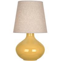 Robert Abbey SU991 June 31 inch 150 watt Sunset Yellow Table Lamp Portable Light in Buff Linen