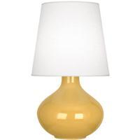 Robert Abbey SU993 June 31 inch 150 watt Sunset Yellow Table Lamp Portable Light in Oyster Linen