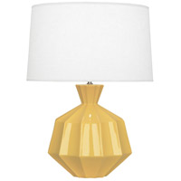 Robert Abbey SU999 Orion 27 inch 150 watt Sunset Yellow Table Lamp Portable Light Polished Nickel Accents