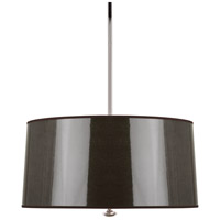Robert Abbey T808 Penelope 3 Light 15 inch Polished Nickel Pendant Ceiling Light in Taupe Ceramik With Silver Mylar