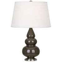 Robert Abbey TE32X Small Triple Gourd 24 inch 150 watt Brown Tea Accent Lamp Portable Light in Antique Silver