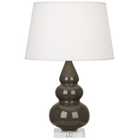 Robert Abbey TE33X Small Triple Gourd 24 inch 150 watt Brown Tea Accent Lamp Portable Light in Lucite