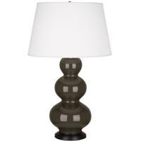 Robert Abbey TE41X Triple Gourd 33 inch 150 watt Brown Tea Table Lamp Portable Light in Deep Patina Bronze