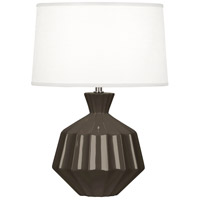Robert Abbey TE989 Orion 18 inch 60 watt Brown Tea Accent Lamp Portable Light, Polished Nickel Accents photo thumbnail