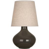 Robert Abbey TE991 June 31 inch 150 watt Brown Tea Table Lamp Portable Light in Buff Linen