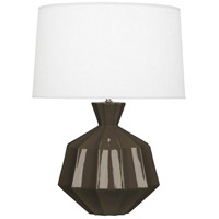 Robert Abbey TE999 Orion 27 inch 150 watt Brown Tea Table Lamp Portable Light Polished Nickel Accents