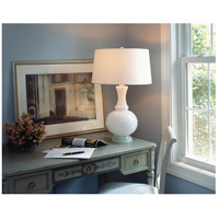 Robert Abbey W3323 Glass Harriet 27 inch 150 watt White Glass with Polished Nickel Table Lamp Portable Light alternative photo thumbnail