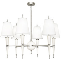 Robert Abbey W604X Jonathan Adler Versailles 6 Light 31 inch Lily Lacquer with Polished Nickel Chandelier Ceiling Light in Ascot White