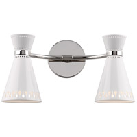 Robert Abbey Havana 2 Light Wall Sconce in Lnn Powder Coat White W708
