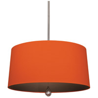 Williamsburg Custis 3 Light 26 inch Polished Nickel Pendant Ceiling Light in William of Orange w/ Revolutionary Storm