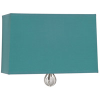 Robert Abbey WB340 Williamsburg Custis 1 Light 11 inch Polished Nickel Wall Sconce Wall Light in Mayo Teal With Carter Gray