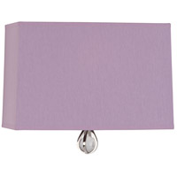 Robert Abbey WB345 Williamsburg Custis 1 Light 11 inch Polished Nickel Wall Sconce Wall Light in Ludwell Lilac With Greenhow Grape