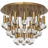 Robert Abbey WB754 Jonathan Adler Milano 1 Light 15 inch Warm Brass Flushmount Ceiling Light
