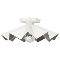 Robert Abbey WHT70 Rico Espinet Bat 1 Light 6 inch Lily Painted Flushmount Ceiling Light