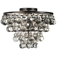 Robert Abbey Bling 2 Light Flush Mount in Deep Patina Bronze Z1002