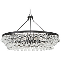 Robert Abbey Z1004 Bling 6 Light 34 inch Deep Patina Bronze Chandelier Ceiling Light