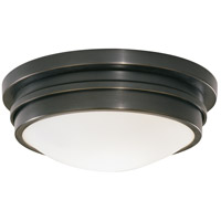Robert Abbey Z1316 Roderick 1 Light 10 inch Deep Patina Bronze Flushmount Ceiling Light